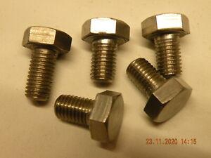 """x5 off 5/16"""" BSF Bolts x 1/2"""" thread Stainless steel hexagonal 5/16"""" BSF bolts"""