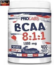 BCAA 8:1:1 AMINOACIDI RAMIFICATI PROLABS  -1000 mg - 400 compresse + Vitamine B