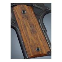 Hogue 43811 Fancy Hardwood For 1911 Officers Compact Grips Checkered Coco Bolo