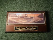 Vintage Baltimore Orioles Oriole Park at Camden Yards 1992 Inaugural Game Plaque