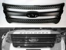 Black Upper Bumper Hood Grill Trim Overlay for Ford Explorer 2011-2015