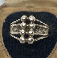 Vintage Sterling Silver Ring 925 Size 8 Modernist Signed Cellini