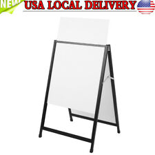Double Side Sidewalk Iron A Frame Sign Massage Board Holder Poster Stand Display
