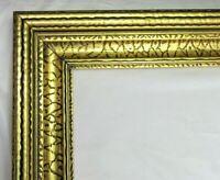 """VINTAGE BIG FITS 23"""" X 29"""" GOLD GILT COUNTRY PRIMITIVE WOOD FRAME FINE ART"""