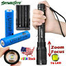 90000LM Rechargeable T6 LED Flashlight Torch Lamp Light + Battery + Charger
