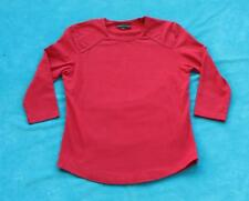 CAROLYN TAYLOR ~ Red 3/4 Length Sleeve ~ Shirt Blouse Top ~ Size SMALL S