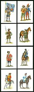 Deutsche Uniformen Reihe V - Uniformen im 17.Jh. - 8 Postkarten in Mappe um 1980