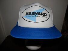 trucker hat baseball cap HARVARD GRANBY CO cool vintage retro Flat Brim RARE