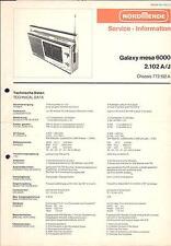 Nordmende Service Manual für Galaxy mesa 6000