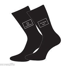 First Holy Communion Text Small Boys 9-12 Black Socks PERSONALISE WITH NAME
