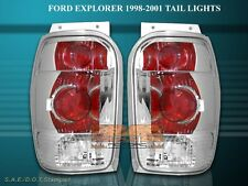 1998-2001 FORD EXPLORER / MERCURY MOUNTAINEER CHROME BRAKE TAIL LIGHTS LAMP