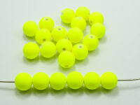 """100 Matte Neon Yellow Color Acrylic Round Beads 10mm(3/8"""") Rubber Tone"""