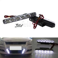 2PCS White 6 LED Car Light DRL Daytime Running Driving Head Lamp Super Bright
