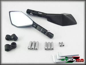 Strada 7 Racing Handle Bar Mounted Monaco Mirrors 2013 - 2014 Kawasaki Z800