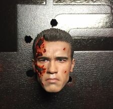 HOT TOYS DX13 TERMINATOR 2 JUDGMENT DAY T-800 1/6 BATTLE DAMAGED HEAD
