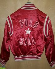 Vintage POLO RALPH LAUREN 1 STAR BALL Rayon Satin Stadium Jacket M USA Rare
