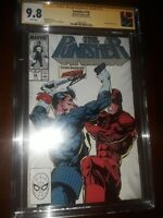 Stan Lee Signed Punisher #10 CGC SS 9.8 (1988) - Daredevil vs Punisher Cover
