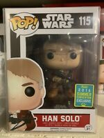 Funko Pop! Han Solo Star Wars The Force Awakens Bowcaster SDCC New Protector 115