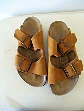 Birkenstock Birkies Brown suede leather slides Shoes sz 36