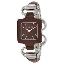 Gucci 1921 Brown Dial Brown Leather Ladies Watch YA130403