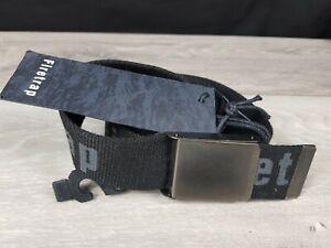 Firetrap Raised Fabric Black Adjustable Belt Mens  Brand New L / XL A341-19