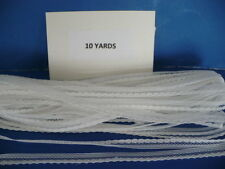 10 YARDS  1/4 IN.  BEADED WHITE POLYESTER   LACE