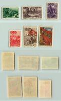 Russia USSR, 1948 SC 1289, 1292-1294 mint, 1290, 1291 used. f442