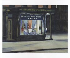 Edward Hopper 1927 Drug Store stampa d'arte farmacia Business notte luce scuro 1