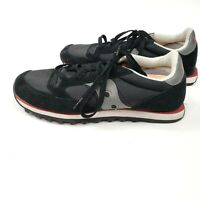 Saucony Jazz Womens Low Pro Classic Black Grey Red Running Sneakers 9.5 Euro 41