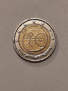 Pièce 2 Euros Commémorative UEM 1999 - 2009 Belgique