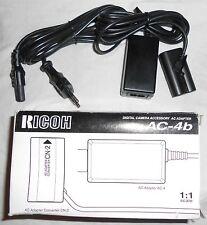 Ricoh ac-4b fuente de alimentación cámaras digitales Caplio r1/rz1/r2 cargador Adaptador set kits