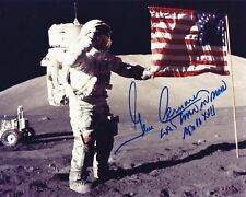 GENE CERNAN ( Apollo 17 ) SIGNED 8X10 PHOTO SIGNED [THIS IS A REPRINT]