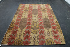 New listing 8X5 Spectacular Fine Antique Hand Knotted Vegetable Dyed Wool Oushak Turkish Rug
