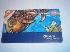 $10 TELSTRA PHONECARD BONUS CATCH FISHING /FISH - RARE EXP 01/2002 - FREE POST