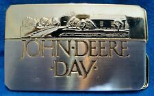 JOHN DEERE DAY 1988 Belt Buckle  Gold Nickel