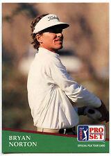 Bryan Norton #52 PGA Tour Golf 1991 Pro Set Trade Card (C321)