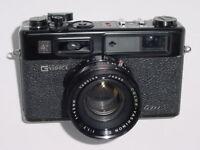 YASHICA ELECTRO 35 GTN 35mm Film Rangefinder Camera with 45mm F1.7 Lens - Black