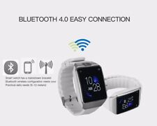 White G12 Bluetooth Touchscreen Smart Watch Curved Sleek Screen With Camera