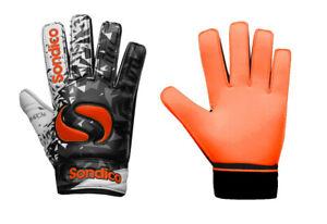 Sondico Goalkeeper Gloves Match Kids Junior Age 4-12 Goalie Football Boys Girls