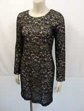 LOVE MOSCHINO Kleid Dress Gr.38 I42 USA6 Langarm Tatoo Spitze Schwarz Creme