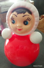RUSSIAN ROLLY-POLLY MUSIC RED GIRL BABY TOY KIDS