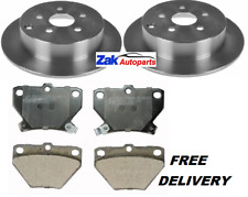 FOR TOYOTA CELICA 1.8 VVTI (1999-2005) 2 REAR BRAKE DISCS & PADS SET (269mm) NEW