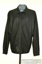 BOD & CHRISTENSEN COUTURE Black Perforated Leather Mens Bomber Jacket Coat - 42
