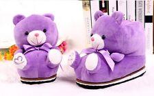Women Winter Slippers Indoor Cartoon Teddy Bear Shoes Cotton Home Soft Warm Cute