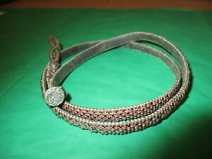 """Love Heals 22"""" Wrap Bracelet Metal/Glass Beads Brown Leather Silver Tree of Life"""