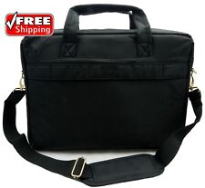 ToteIt Laptop Notebook Computer Shoulder Bag Case Briefcase Black up to 17.3""