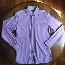 Mens TED BAKER Pink Shirt Size UK16 / Large RRP $249.95