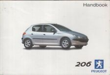 PEUGEOT 206 1.1 1.4 1.6 2.0 essence 1.4 1.9 2.0 Diesel Voiture Van 2001 Owners Manual