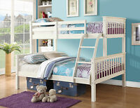 Pine Bunk Bed Trio Three Sleeper Triple White Kids Childrens Wooden Wood Frame