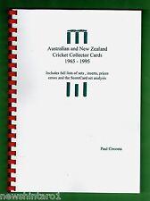 #II. AUSTRALIAN & NEW ZEALAND CRICKET COLLECTOR CARD CATALOGUE  1965 to 1995